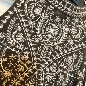 Beautiful shoulder cutout embroidered top